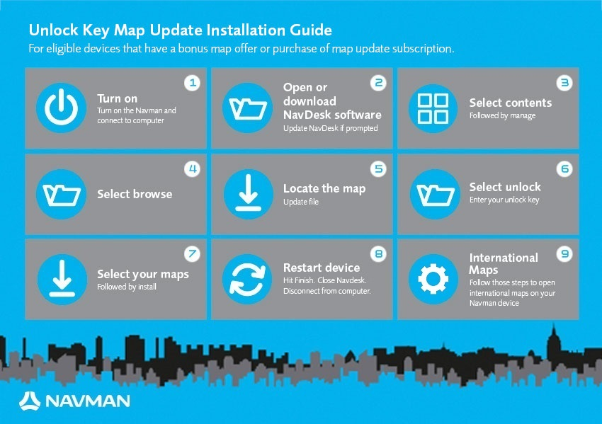 navman how to change map